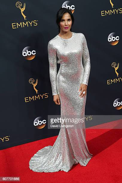 Padma Lakshmi arrives at the 68th Annual Primetime Emmy Awards at the Microsoft Theater on September 18 2016 in Los Angeles California