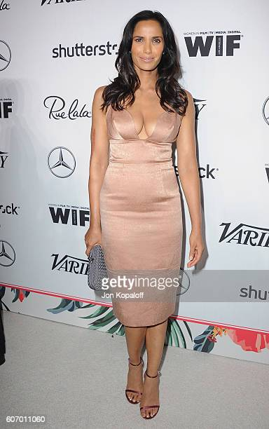 Padma Lakshmi arrives at Variety And Women In Film's PreEmmy Celebration at Gracias Madre on September 16 2016 in West Hollywood California