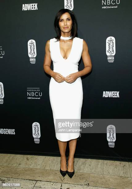 Padma Lakshmi attends 28th Annual Adweek Brand Genius Gala at Cipriani 25 Broadway on October 18 2017 in New York City