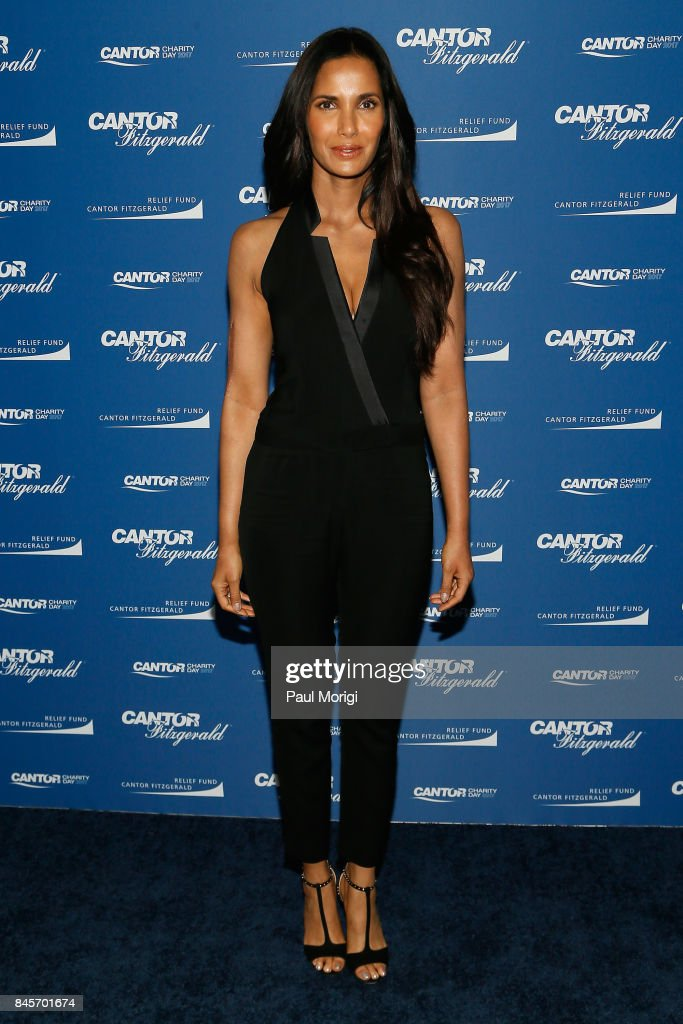 Padma Lakshmi attends Annual Charity Day hosted by Cantor Fitzgerald, BGC and GFI at Cantor Fitzgerald on September 11, 2017 in New York City.