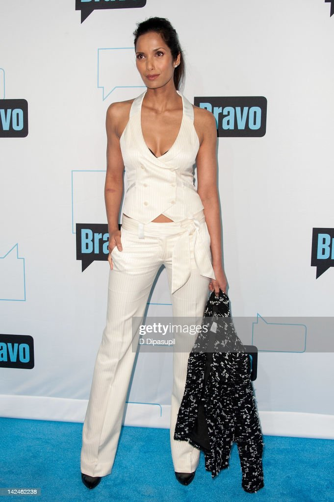 Padma Lakshmi attends Bravo Upfront 2012 at Center 548 on April 4, 2012 in New York City.