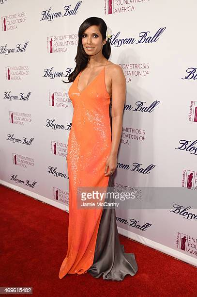Padma Lakshmi attends EFA's 7th Annual Blossom Ball at Cipriani Downtown on April 13 2015 in New York City