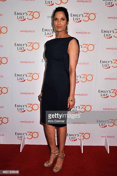 Padma Lakshmi attends EMILY's List 30th Anniversary Gala at Washington Hilton on March 3 2015 in Washington DC