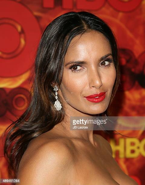 Padma Lakshmi attends HBO's Official 2015 Emmy After Party at The Plaza at the Pacific Design Center on September 20 2015 in Los Angeles California