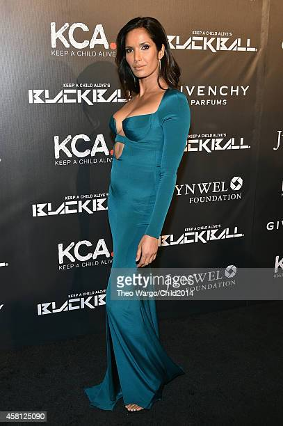 Padma Lakshmi attends Keep A Child Alive's 11th annual Black Ball at Hammerstein Ballroom on October 30 2014 in New York City