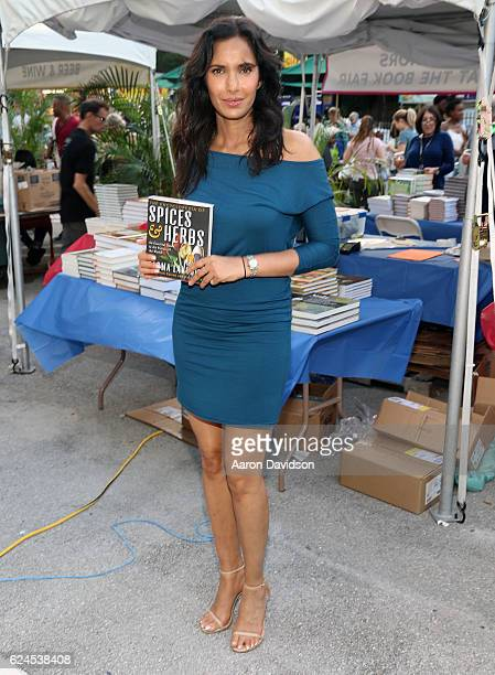Padma Lakshmi attends Miami Book Fair on November 19 2016 in Miami Florida