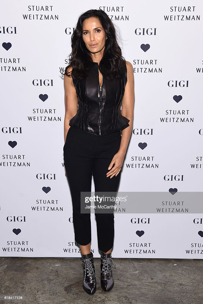 Padma Lakshmi attends Stuart Weitzman's Launch of the Gigi Boot on October 26, 2016 in New York City.