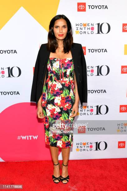 Padma Lakshmi attends the 10th Anniversary Women In The World Summit at David H Koch Theater at Lincoln Center on April 10 2019 in New York City