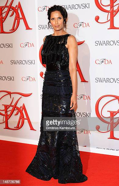 Padma Lakshmi attends the 2012 CFDA Fashion Awards at Alice Tully Hall on June 4 2012 in New York City