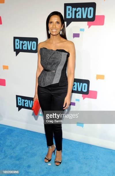 Padma Lakshmi attends the 2013 Bravo New York Upfront at Pillars 37 Studios on April 3 2013 in New York City