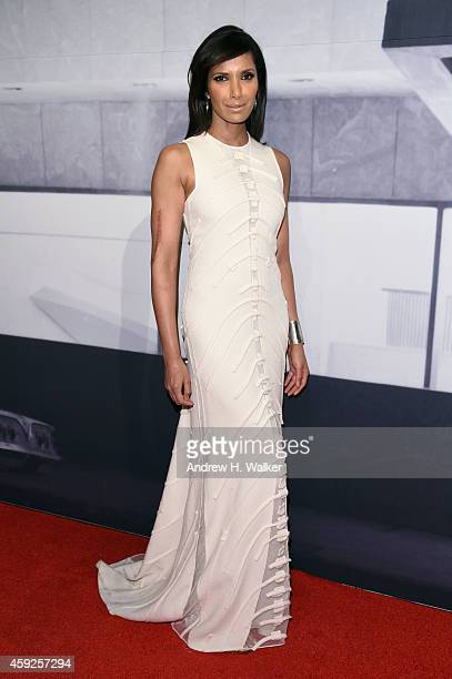Padma Lakshmi attends the 2014 Whitney Gala presented by Louis Vuitton at The Breuer Building on November 19 2014 in New York City