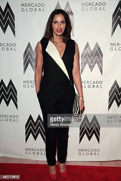Padma Lakshmi attends the 2015 Mercado Global Fashion Forward Gala at The Bowery Hotel on October 14 2015 in New York City