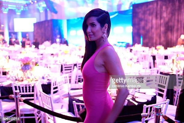 Padma Lakshmi attends the 2016 amfAR New York Gala at Cipriani Wall Street on February 10 2016 in New York City