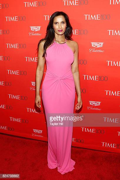 Padma Lakshmi attends the 2016 Time 100 Gala at Frederick P Rose Hall Jazz at Lincoln Center on April 26 2016 in New York City