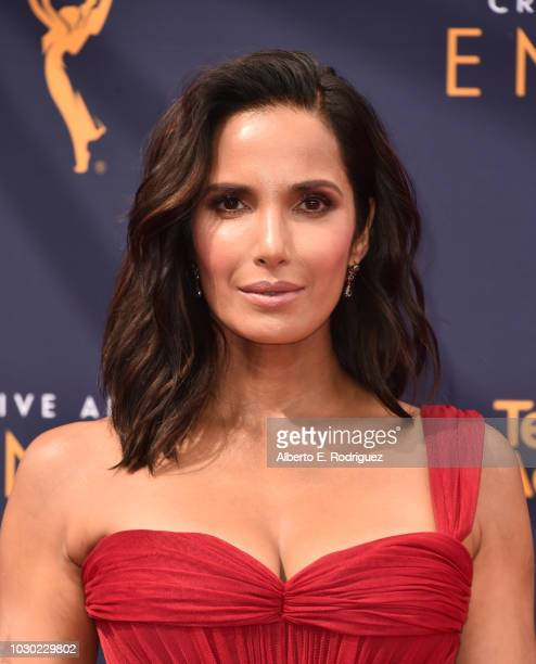 Padma Lakshmi attends the 2018 Creative Arts Emmys Day 2 at Microsoft Theater on September 9 2018 in Los Angeles California