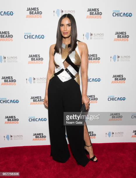 Padma Lakshmi attends the 2018 James Beard Media Awards at Pier Sixty at Chelsea Piers on April 27 2018 in New York City