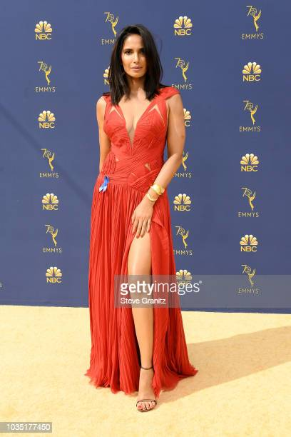 Padma Lakshmi attends the 70th Emmy Awards at Microsoft Theater on September 17 2018 in Los Angeles California