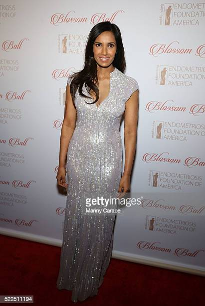 Padma Lakshmi attends the 8th Annual Blossom Ball benefiting the Endometriosis Foundation of America at Pier Sixty at Chelsea Piers on April 19 2016...