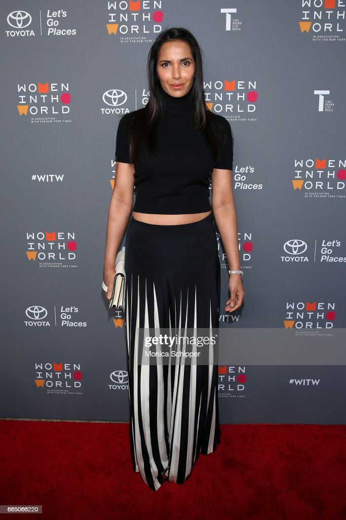 Padma Lakshmi attends the 8th Annual Women In The World Summit at Lincoln Center for the Performing Arts on April 5, 2017 in New York City.