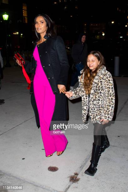 Padma Lakshmi attends the 'Captain Marvel' New York Premiere in Tribeca on March 06 2019 in New York City