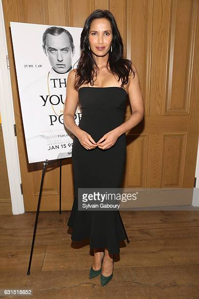 Padma Lakshmi attends The Cinema Society Hosts a Screening of HBO's 'The Young Pope' on January 11 2017 in New York City