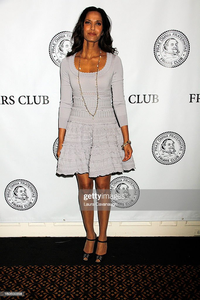 Padma Lakshmi attends The Friars Club Presents: Do You Think You Can Roast?! Padma Lakshmi at New York Friars Club on February 1, 2013 in New York City.
