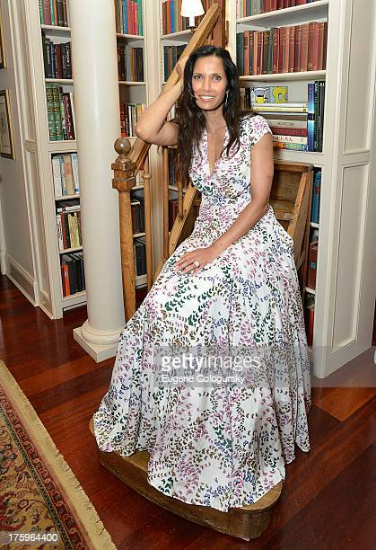 Padma Lakshmi attends the Hamptons Magazine And Cover Star Padma Lakshmi Host Private Dinner For Authors Night at Private Residence on August 10 2013...