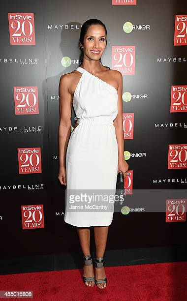 Padma Lakshmi attends the Instyle 20th Anniversary Party at Diamond Horseshoe at the Paramount Hotel on September 8 2014 in New York City