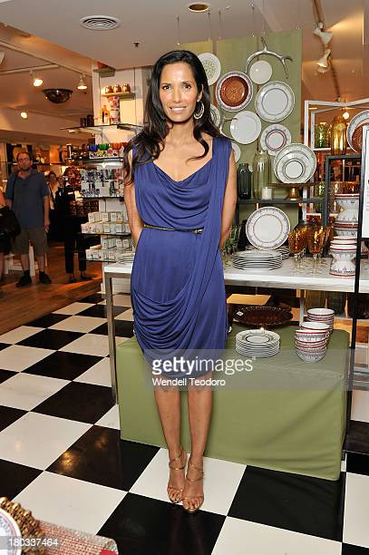 Padma Lakshmi attends the Padma Lakshmi Tabletop And Giftware Collection Launch at Bloomingdale's 59th Street Store on September 11 2013 in New York...