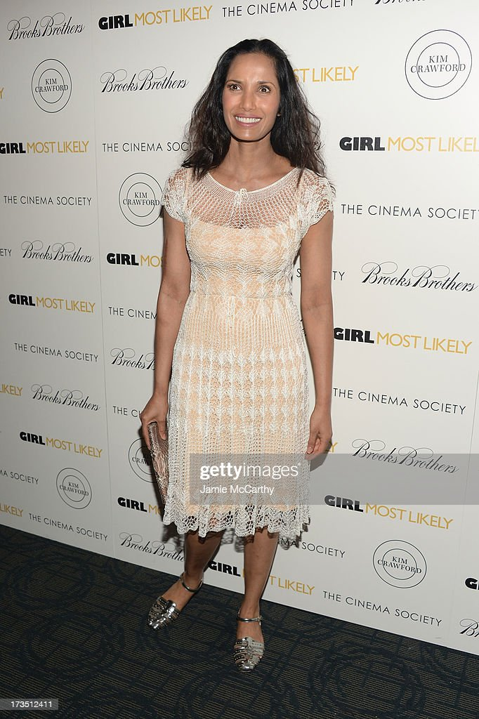 Padma Lakshmi attends the screening of Lionsgate and Roadside Attractions' 'Girl Most Likely' hosted by The Cinema Society & Brooks Brothers at Landmark's Sunshine Cinema on July 15, 2013 in New York City.