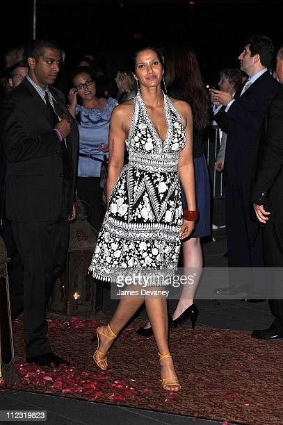 Padma Lakshmi attends the 'Sex and the City 2' premiere after party at Lincoln Center for the Performing Arts on May 24 2010 in New York City