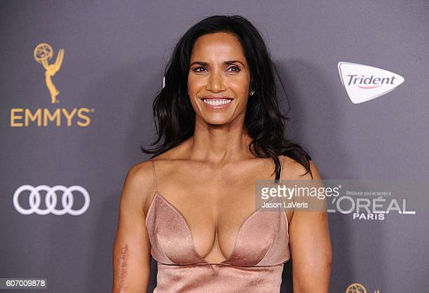 Padma Lakshmi attends the Television Academy reception for Emmy nominated performers at Pacific Design Center on September 16 2016 in West Hollywood...