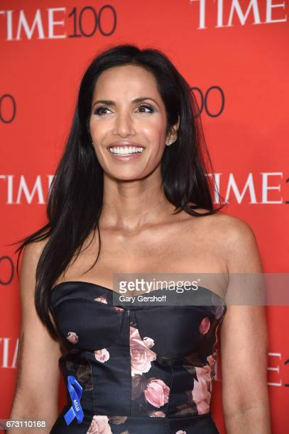 Padma Lakshmi attends the Time 100 Gala at Frederick P Rose Hall Jazz at Lincoln Center on April 25 2017 in New York City