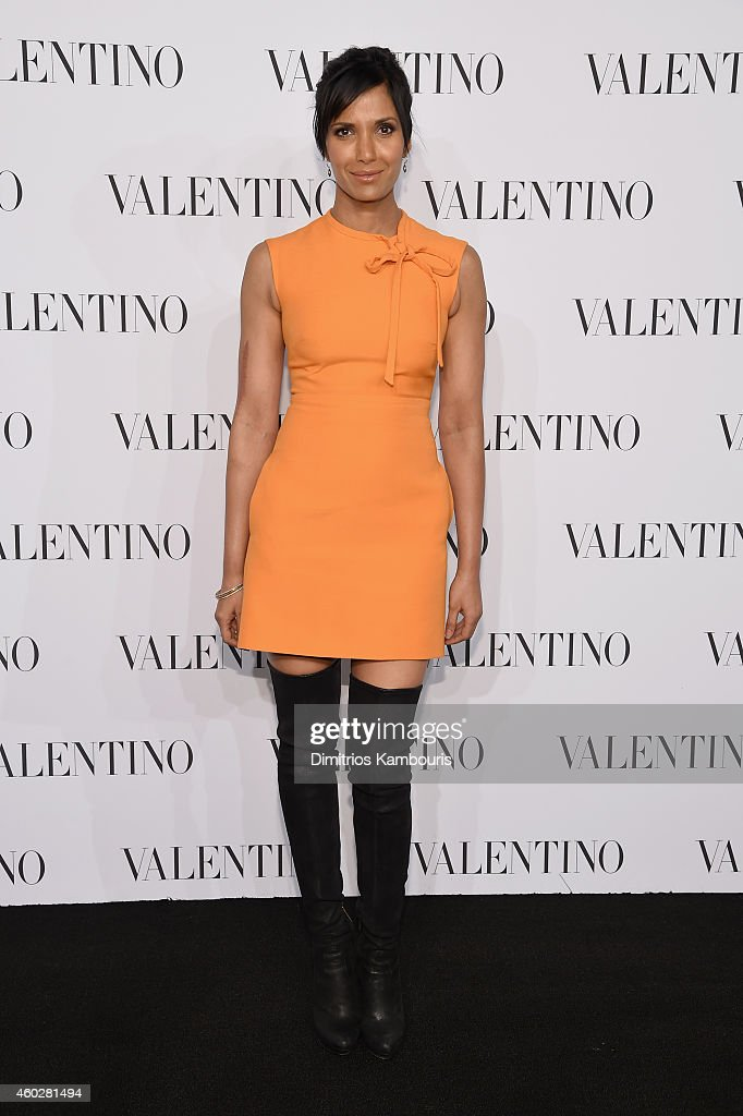 Padma Lakshmi attends the Valentino Sala Bianca 945 Event on December 10, 2014 in New York City.
