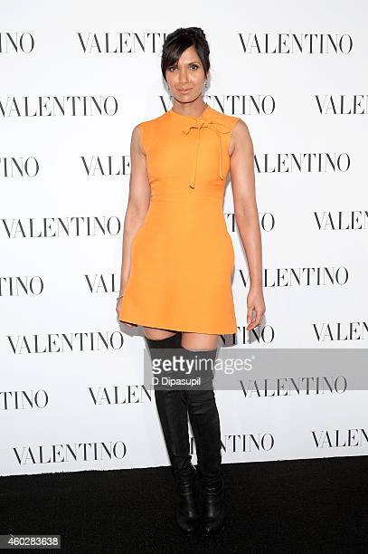 Padma Lakshmi attends the Valentino Sala Bianca 945 Event on December 10 2014 in New York City