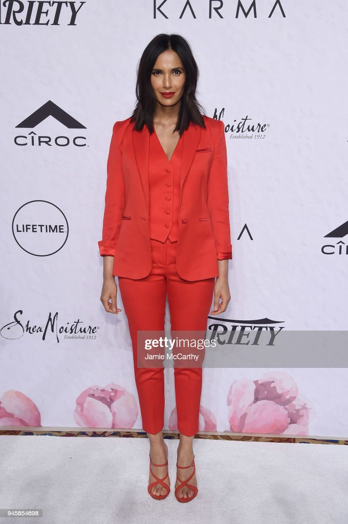 Padma Lakshmi attends Variety's Power of Women: New York at Cipriani Wall Street on April 13, 2018 in New York City.