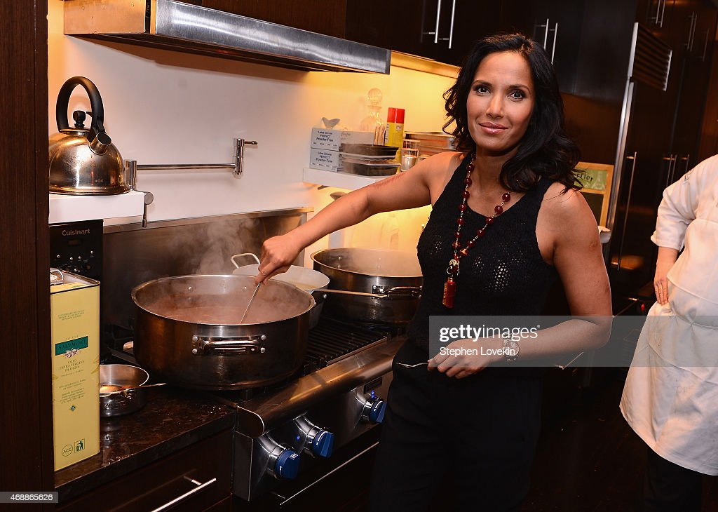 Padma Lakshmi celebrates European travel with Airbnb on April 7, 2015 in New York City.