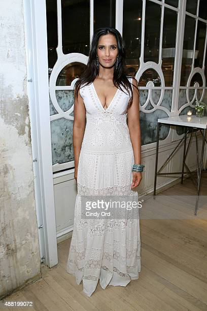 Padma Lakshmi celebrates her birthday at a party hosted by Tiny Prints at ABC Kitchen on September 11 2015 in New York City