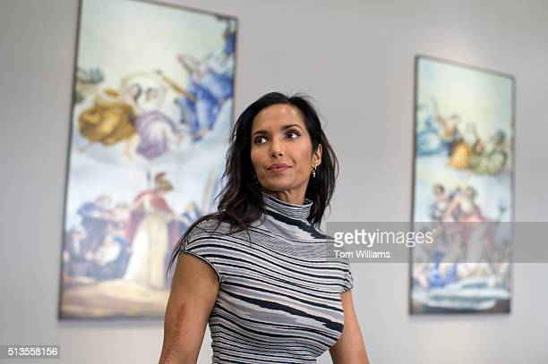 Padma Lakshmi cofounder of the Endometriosis Foundation of America and cohost of Top Chef arrives for a briefing in Hart Building March 3 2016...