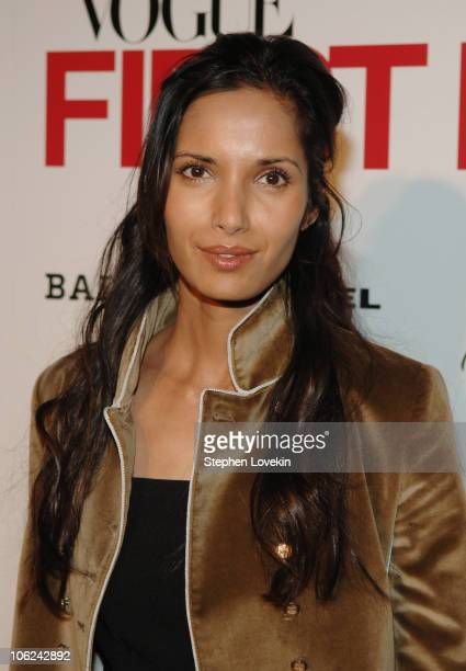 Padma Lakshmi during Mercedes-Benz Fashion Week Fall 2007 - Vogue First Look - Arrivals and Inside at Phillips de Pury Gallery in New York City, New...