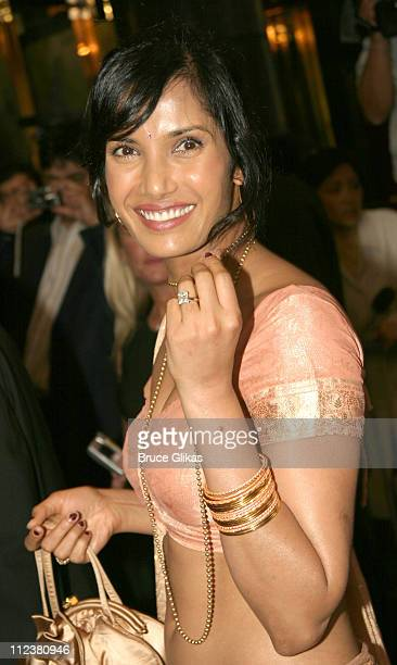 Padma Lakshmi during Opening Night Of A R Rahman's Hit Musical 'Bombay Dreams' Arrivals and Curtain Call at Broadway Theater in New York United States