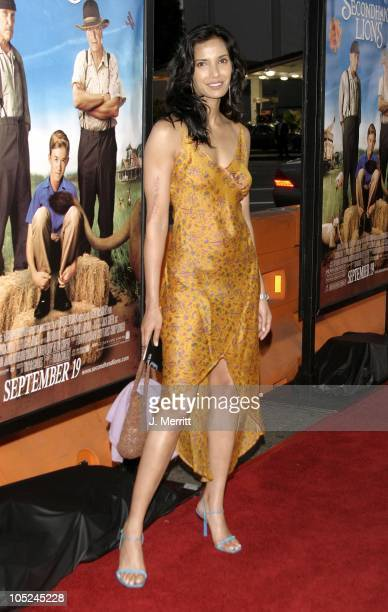 Padma Lakshmi during The World Premiere Of Secondhand Lions at Mann National Theatre in Westwood California United States