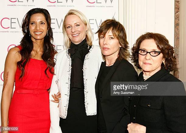 Padma Lakshmi EditornChief of Allure Magazine Linda Wells celebrity stylist Sally Hershberger and President of Cosmetic Executive Women Carlotta...
