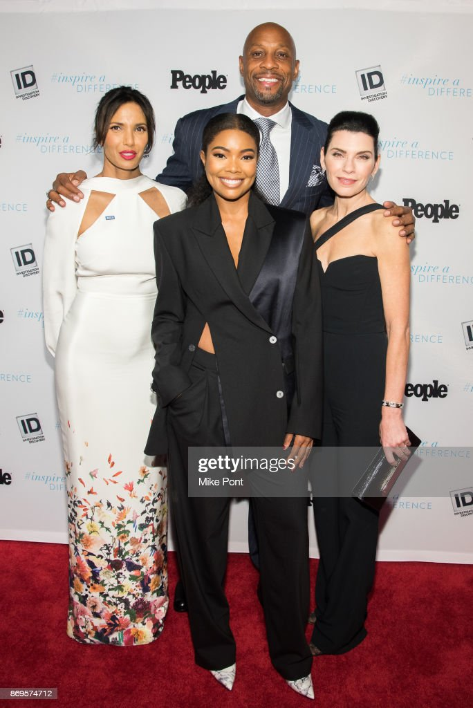 Padma Lakshmi, Gabrielle Union, Alonzo Mourning, and Julianna Margulies attend the 2017 Inspire A Difference Honors event at Dream Hotel on November 2, 2017 in New York City.