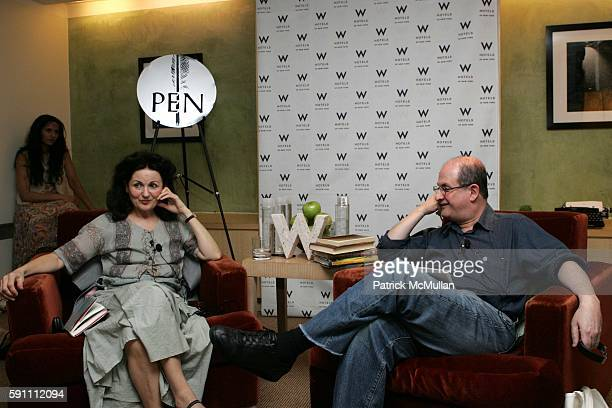 Padma Lakshmi Hanan al Shaykh and Salman Rushdie attend W Hotel Hosts Renowned Author Salman Rushdie and Lebanese Feminist Author Hanan al Shaykh as...