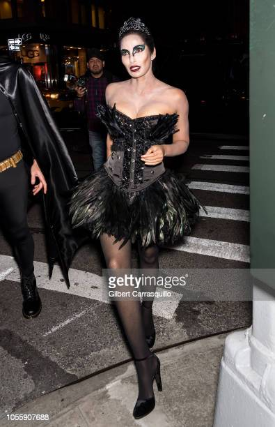 Padma Lakshmi is seen arriving to Heidi Klum's 19th Annual Halloween Party at Lavo NYC on October 31 2018 in New York City