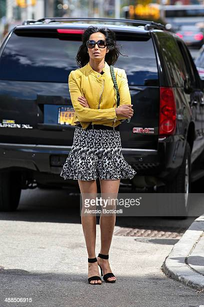 Padma Lakshmi is seen in SoHo on May 6 2014 in New York City