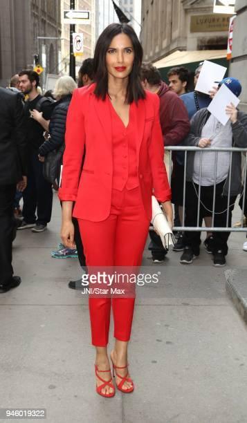 Padma Lakshmi is seen on April 13 2018 in New York City