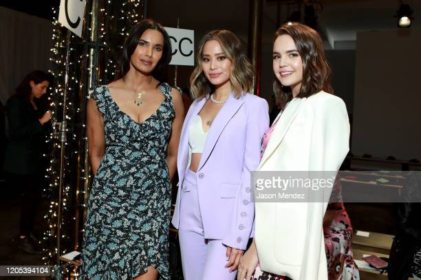 Padma Lakshmi, Jamie Chung, and Bailee Madison attend the Veronica Beard fashion show during February 2020 - New York Fashion Week: The Shows on...