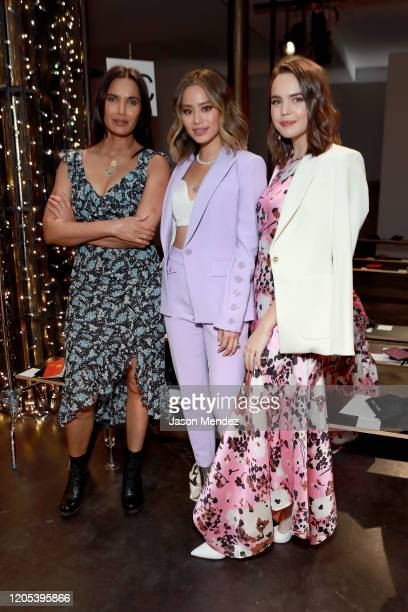 Padma Lakshmi Jamie Chung and Bailee Madison attend the Veronica Beard fashion show during February 2020 New York Fashion Week The Shows on February...